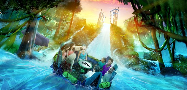 Infinity Falls Rainforest River Experience at SeaWorld Orlando