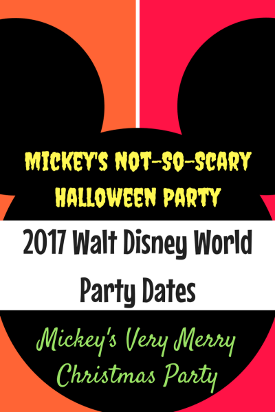 Walt Disney World has released the Mickey's Not-So-Scary Halloween Party and Mickey's Very Merry Christmas Party dates for 2017.