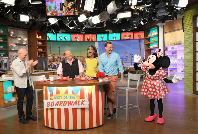 See ABC's The Chew film shows at Epcot International Food & Wine Festival this year as they broadcast 5 shows that will air in October 2017.