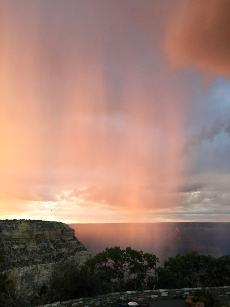 Grand Canyon Sunset with Rain