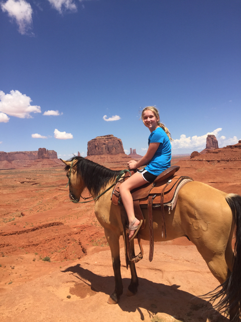 Hunter on a Horse in Monument Valley