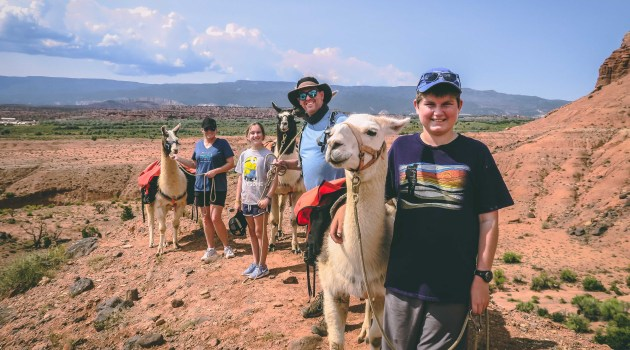 Ultimate Adventure with Llamas at Capitol Reef National Park in Utah