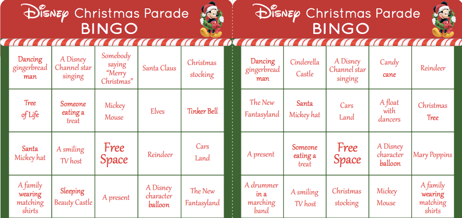 graphic relating to Disney Bingo Printable identified as Xmas Printables Themed When Disney