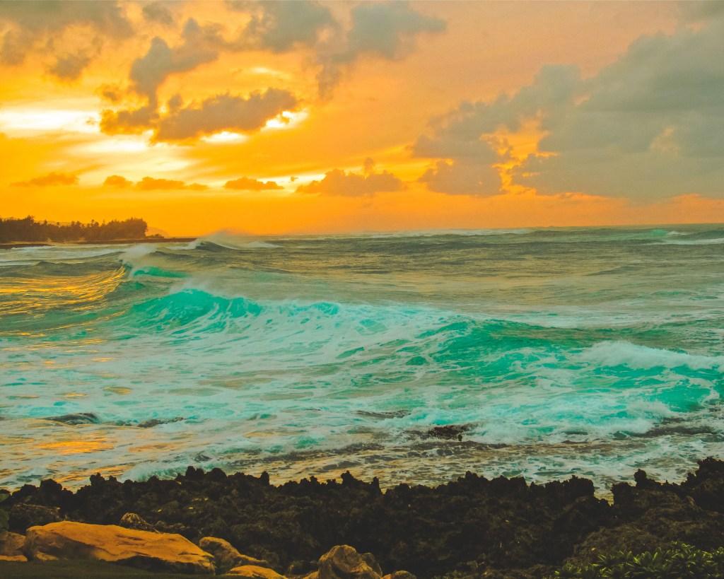 vist hawaii sunset
