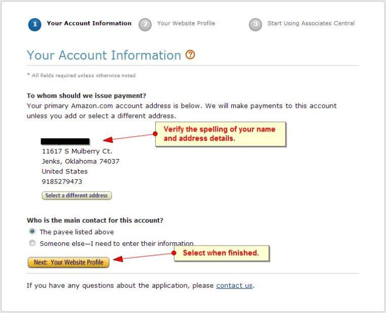 login to amazon affiliate account