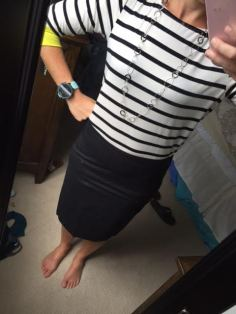 stripes with skirt