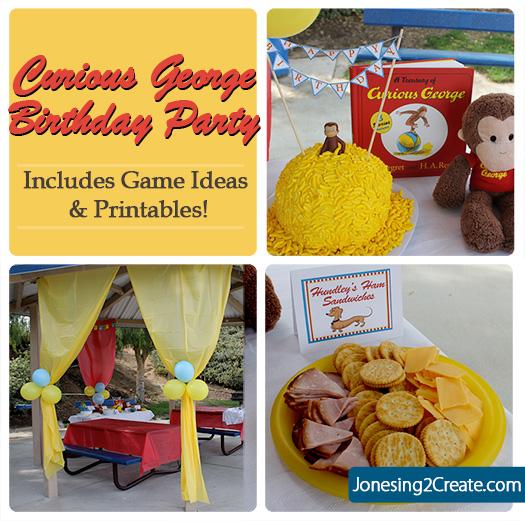 Curious George Birthday Party Jonesing2create