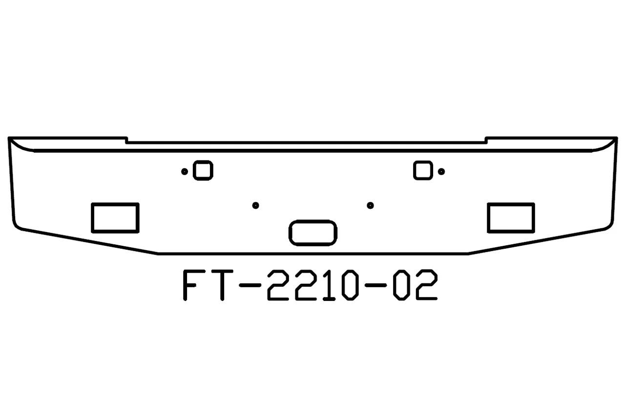 V Ft 02 Aftermarket Fits Kenworth W900b 18 Bumper