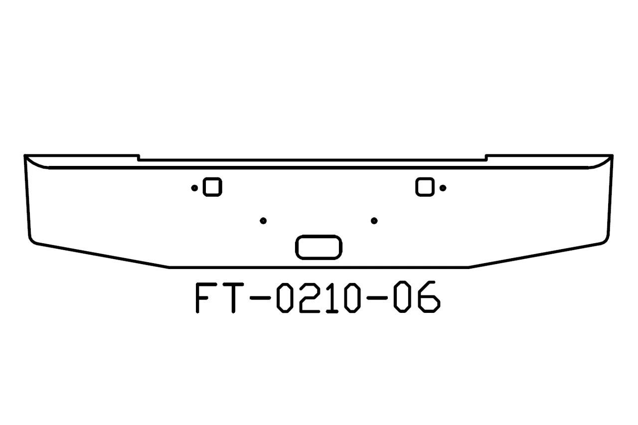 V Ft 06 Aftermarket Fits Kenworth W900b 18 Bumper