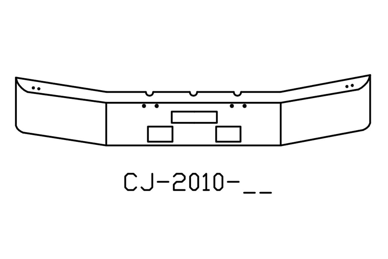 V Cj 04 Aftermarket Fits Freightliner Fld120 Bumper
