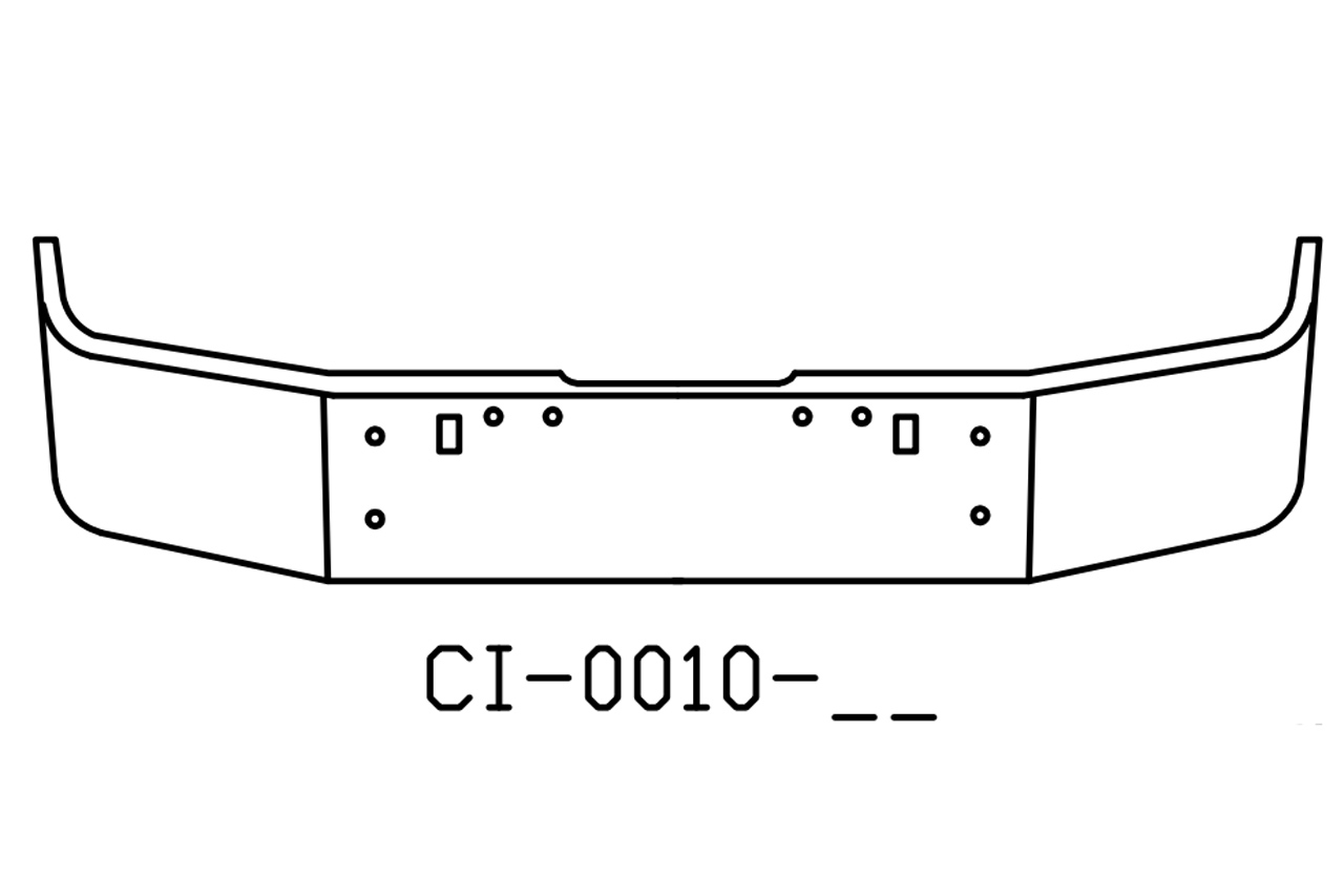 V Ci 17 Aftermarket Fits Freightliner Fld120 Fld112 Bumper 18 Tall And Newer