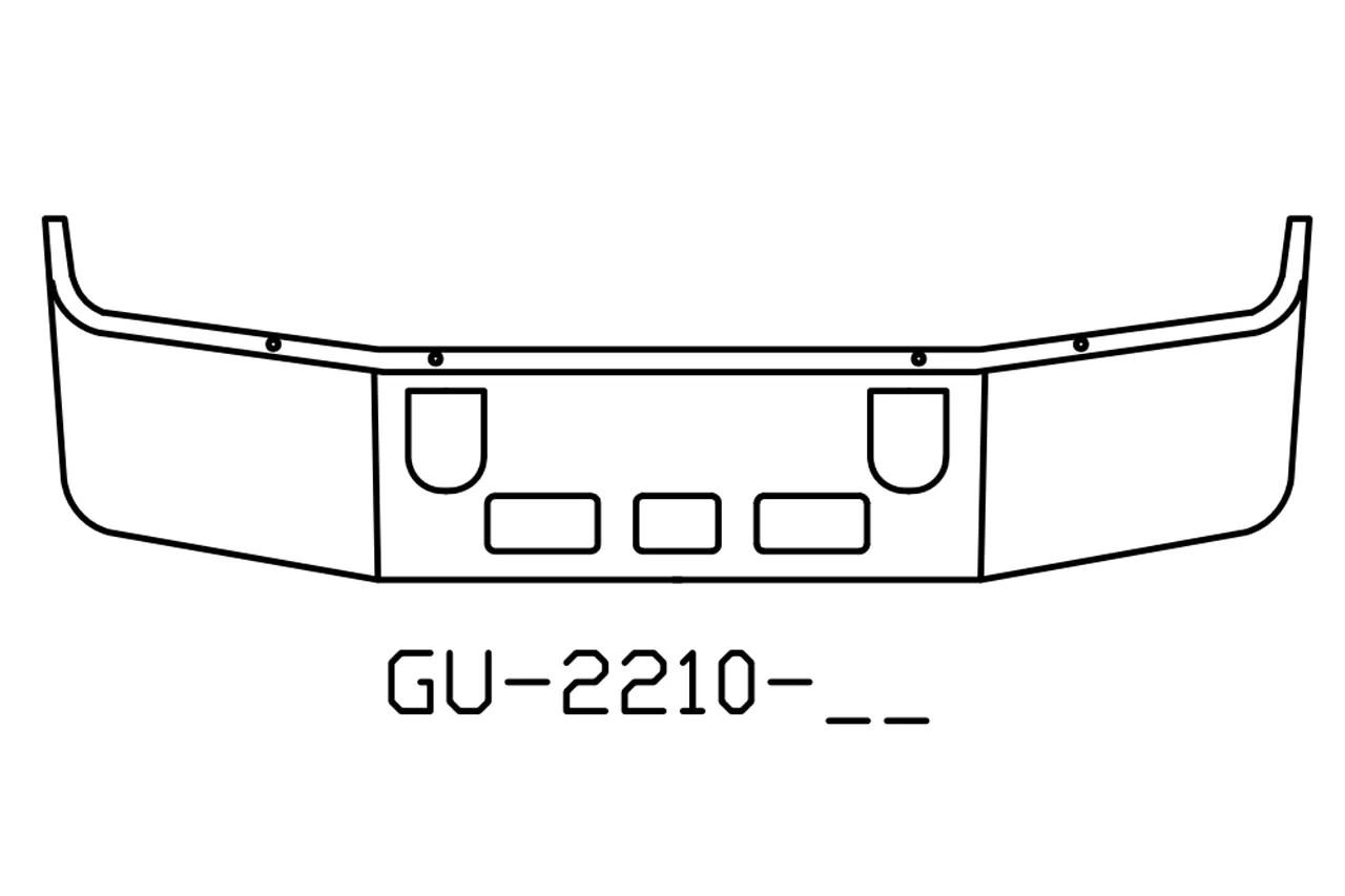 V Gu 16 Aftermarket Fits Mack Vision Cx613 Bumper