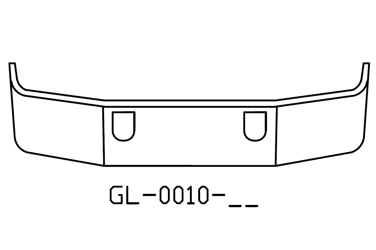 V Gl 17 Aftermarket Fits Mack Ch613 Sba 18 Chrome Bumper With Tow Holes