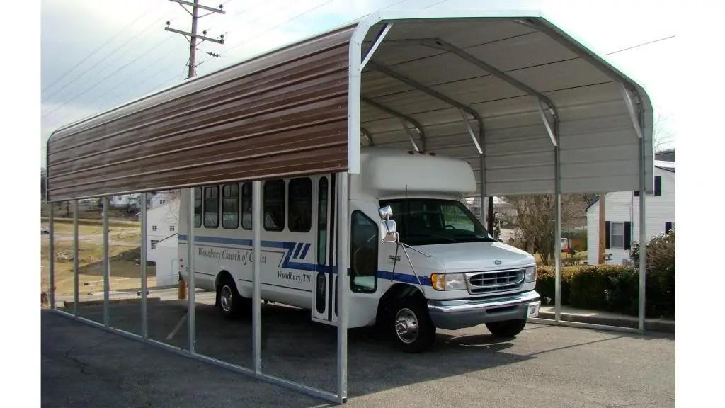 Bus and RV Carports South Carolina - Jones Vacuum Center and Carports