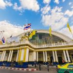 Hua Lamphomg railway station Bangkok front section