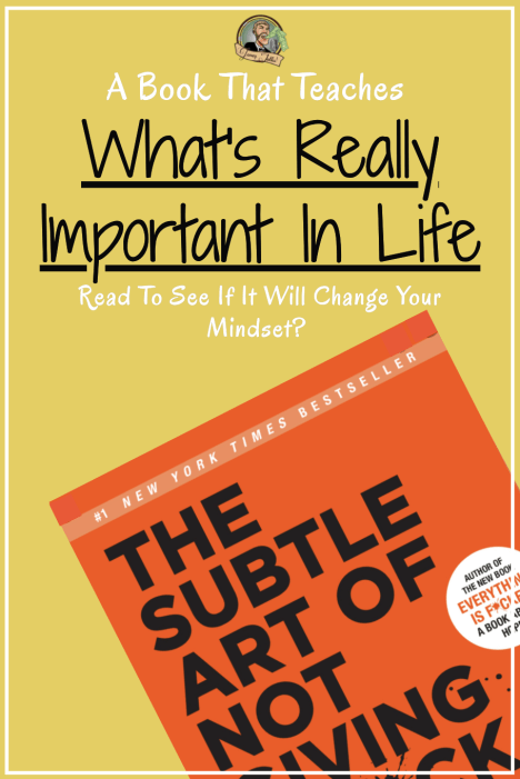 Book review of Mark Manson's Subtle Art of Not Giving a F*, Should you give a F*about this book? #markmanson #thesubtleartofnotgivingaf #bookreview #inspiringbooks #priorities