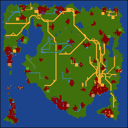 OpenTTD eindoverzicht kaart
