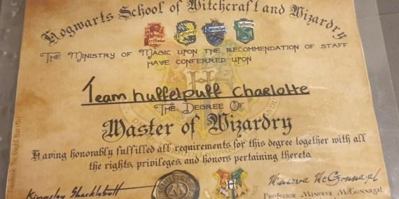 Het enige echte Harry Potter diploma voor de winnaars!