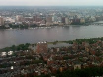 View of the river in Boston from the Prudential Center
