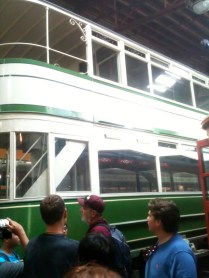 Double decker trolley from England