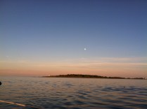 Moon rise over Wood Island Light
