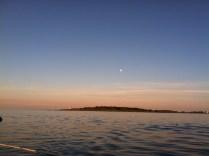 Moon rise over Wood Island Light