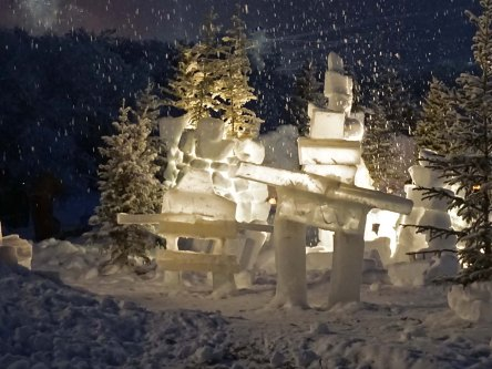 Ice Sculpture, Sunrise Festival