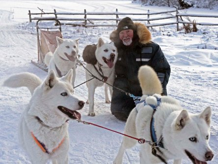 Fr. Leo with his Dogteam