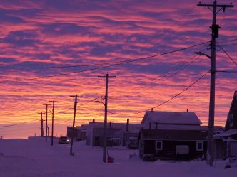 Sunrise over Tuktoyaktuk
