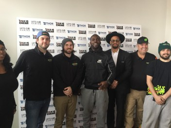 Gamer's Lounge Super Bowl LII Step and Repeat