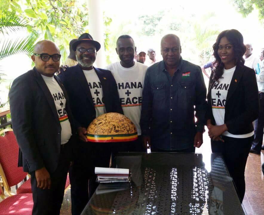 John Mahama endorses the Ghana+Peace Campaign