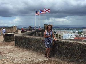 Joni atop San Cristobal Fort in San Juan.