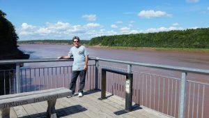 Canada Fundy Tidal Interpretive Center on Shubenacadie River in Canada