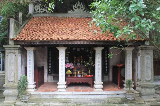 A temple at the Trang An Grottos tour, Ninh Binh, Vietnam