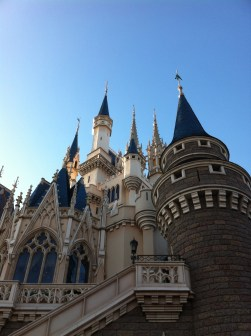 The spires of Cinderella's castle