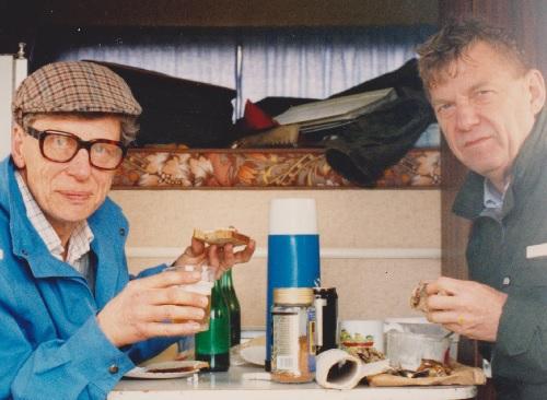Jejje och Sven Sandell i aktion 1992