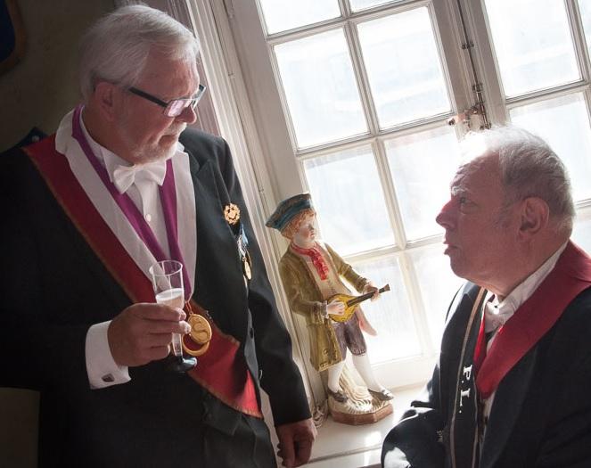 Bertil Nilsson och Åke Olsson bubblar