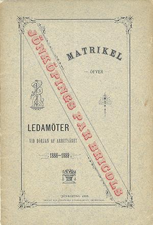 JPB Matrikel 1888-1889