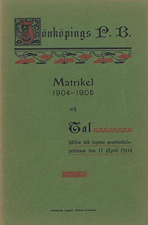JPB Matrikel 1904-1905