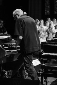 "Jon Lord with the ""Children in Time"" choir"