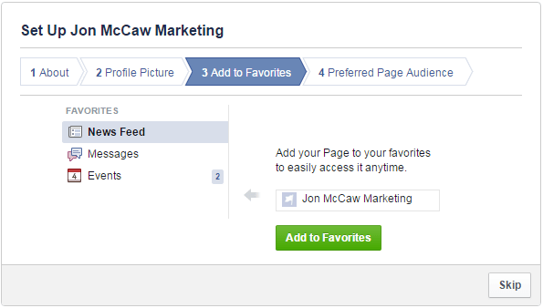Home Business Facebook Fan Page-Favorite