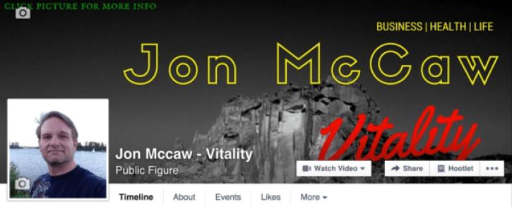 Vitality Facebook Fan Page