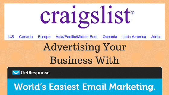 Craigslist Training Using The GetResponse Autoresponder