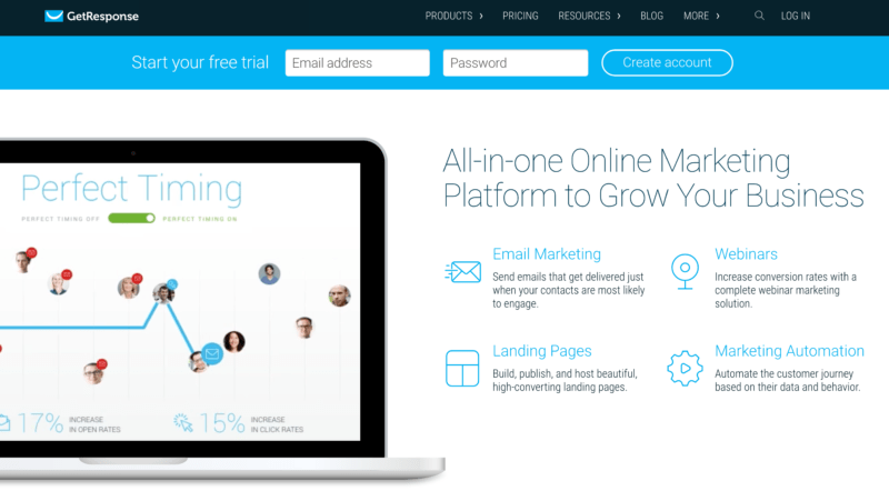 Time Saving Tools For Building An Online Business getresponse email marketing