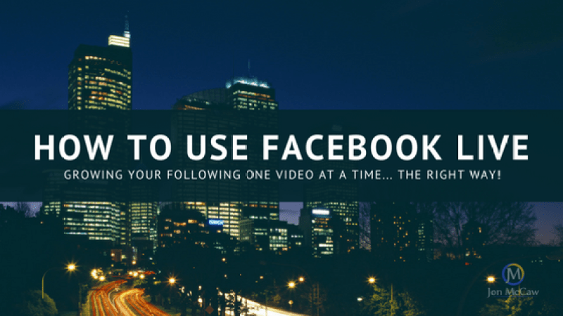How to use facebook live
