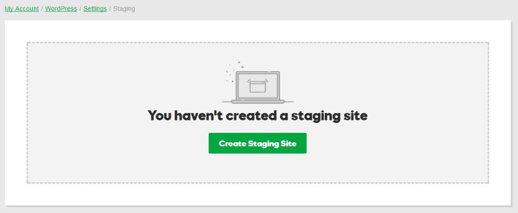 Start a WordPress Blog - Staging site