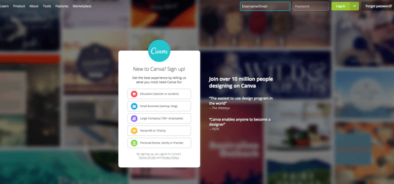 free image website resources - Canva
