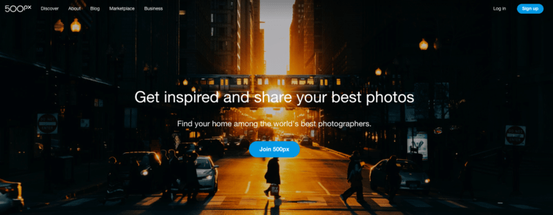 Free image website resources - 500px