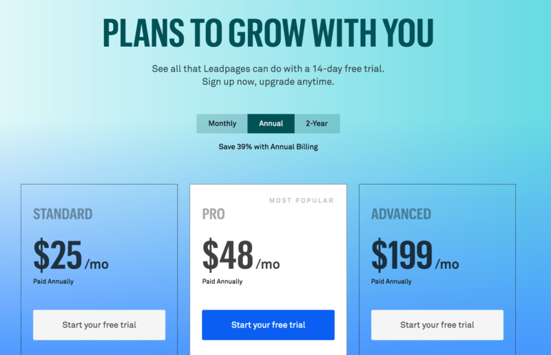 using Drip email marketing - Leadpages Plans