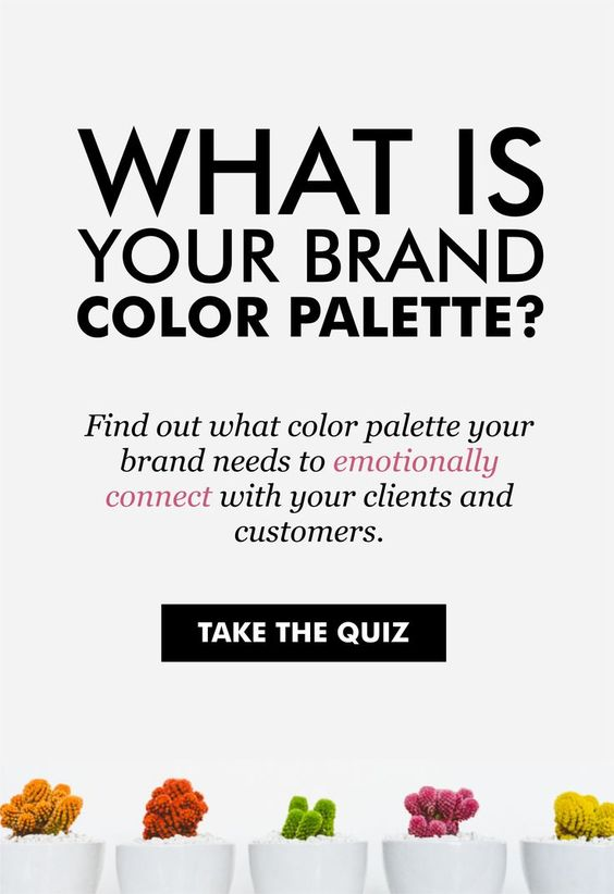 building your brand - color palette